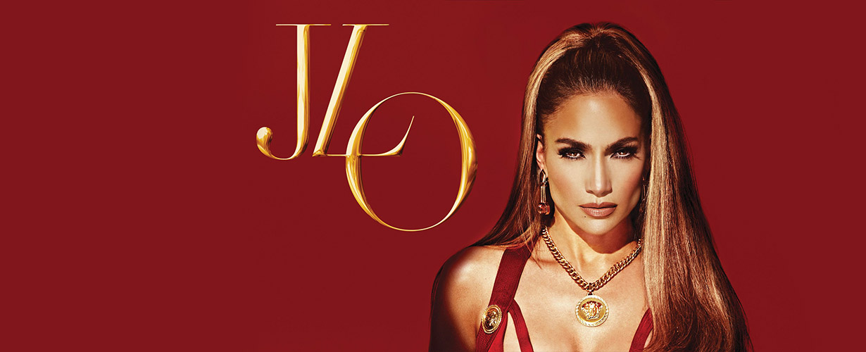 Jennifer Lopez red background poster