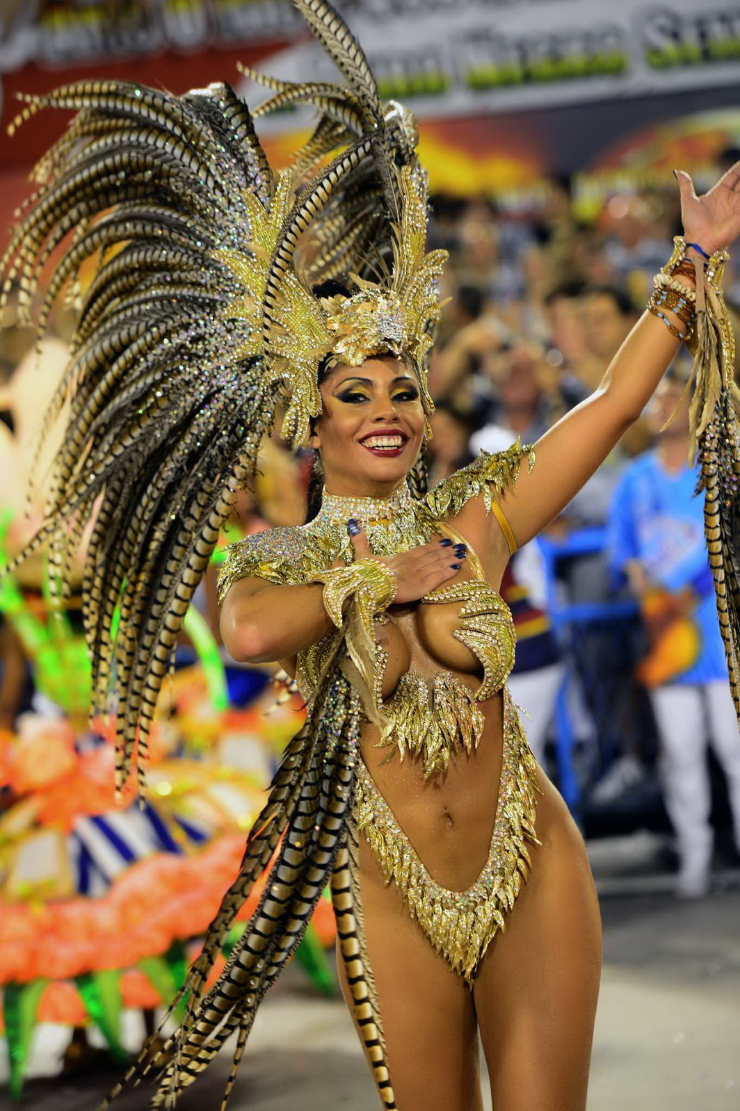 Body painting nude woman rio carnival