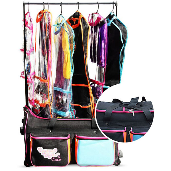 XXL dance bag with built-in gourments rack