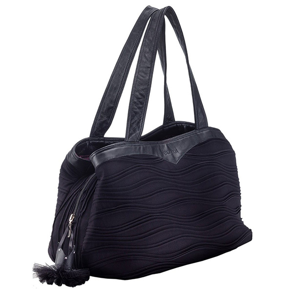 Wear Moi Black Leather Dance Bag