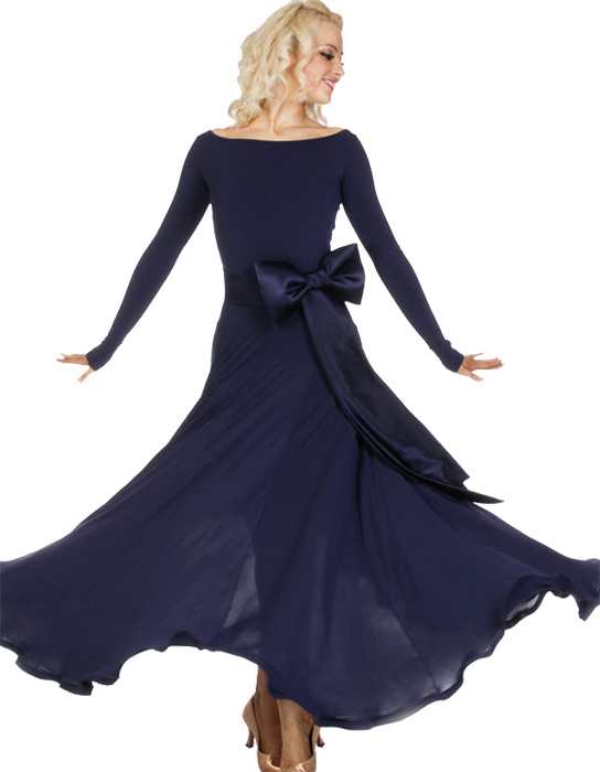 Women basic one piece ballroom standard gown