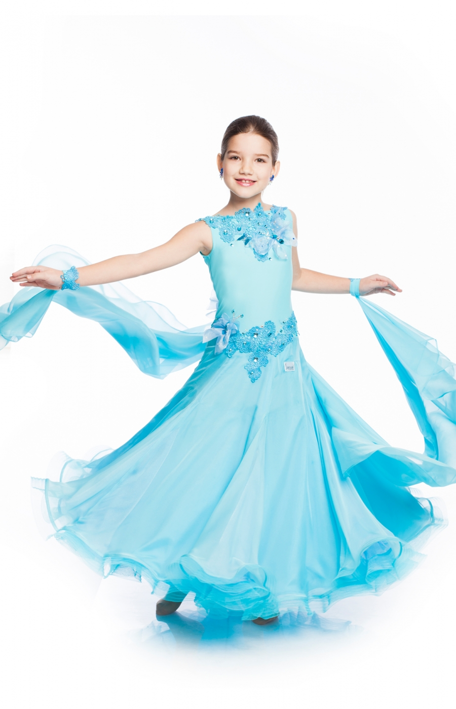 Kids Girl Blue Ballroom Dress