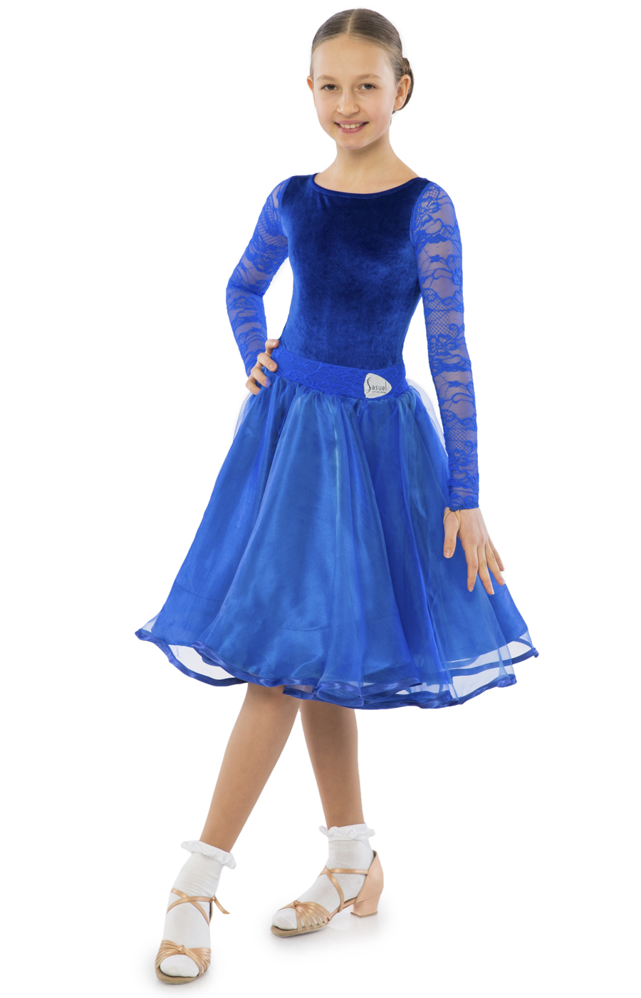 Teen Girl Practice Ballroom Violet Juvenile Dress
