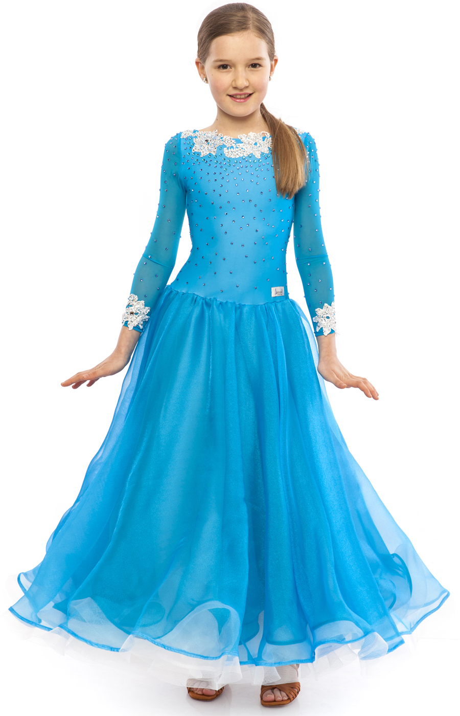 Teen Girl Blue Ballroom Dress Cinderella