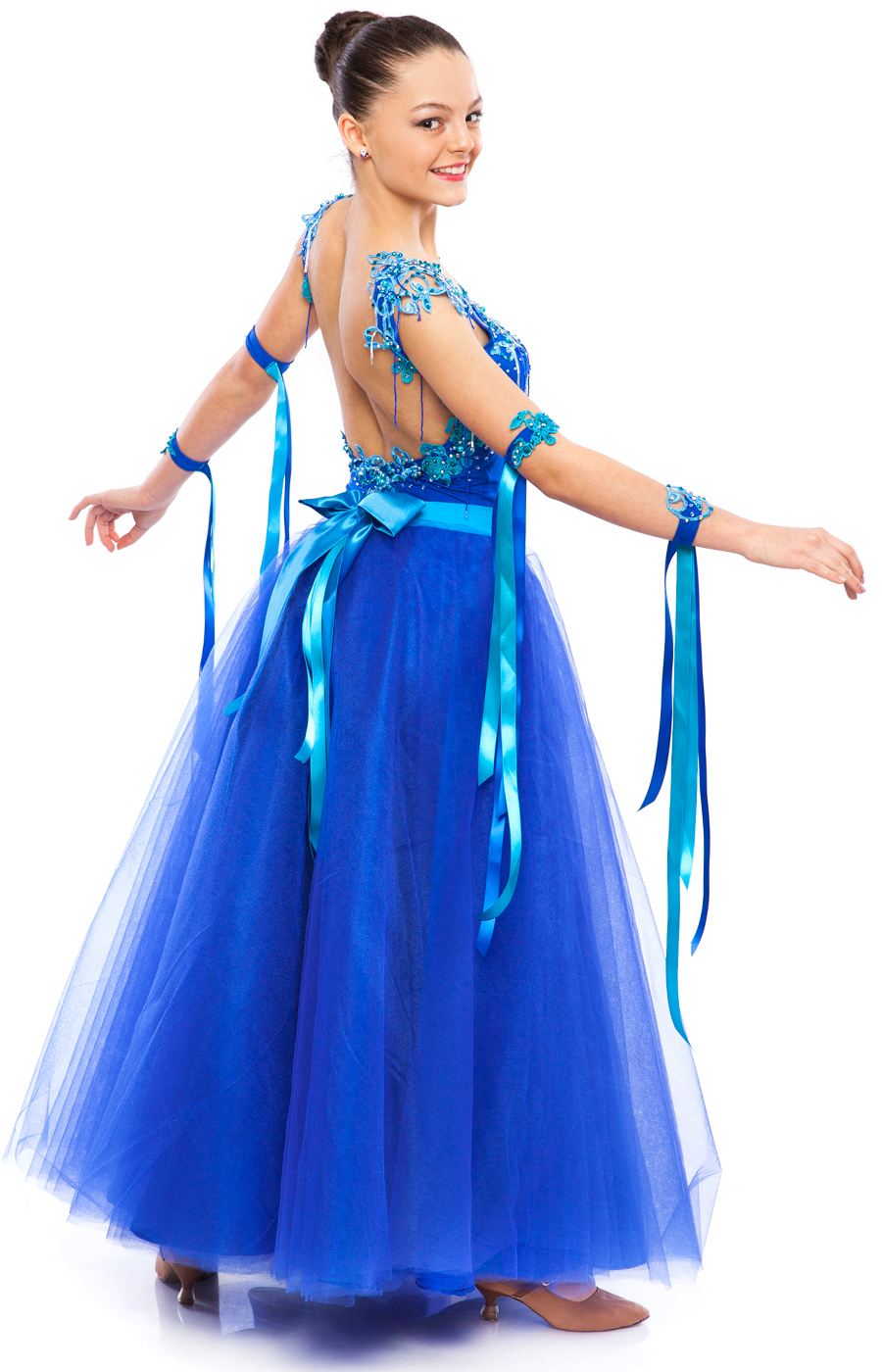 Teen Girl Blue Ballroom Dress Lusiana