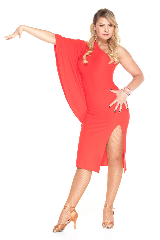 Fabulous Red Latin Dance Dress