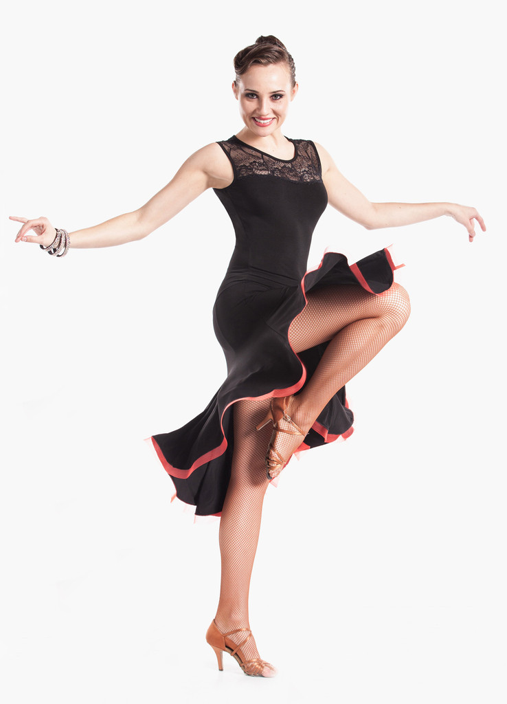 Fancy Lacey Latin Ballroom Dance Dress
