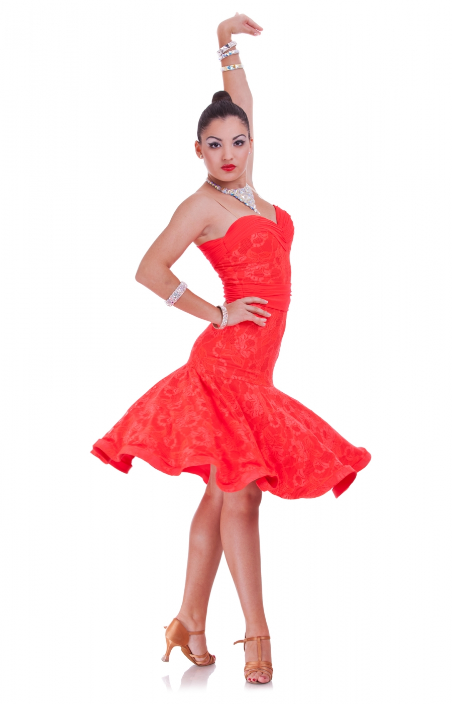 Red Latin Dress