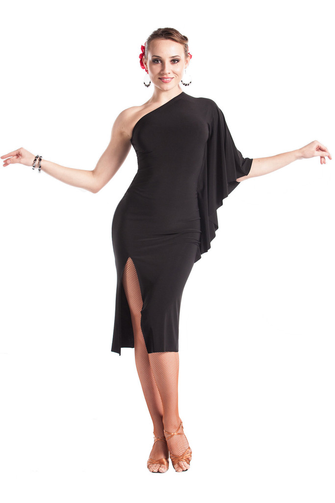 Women Black Latin Dress