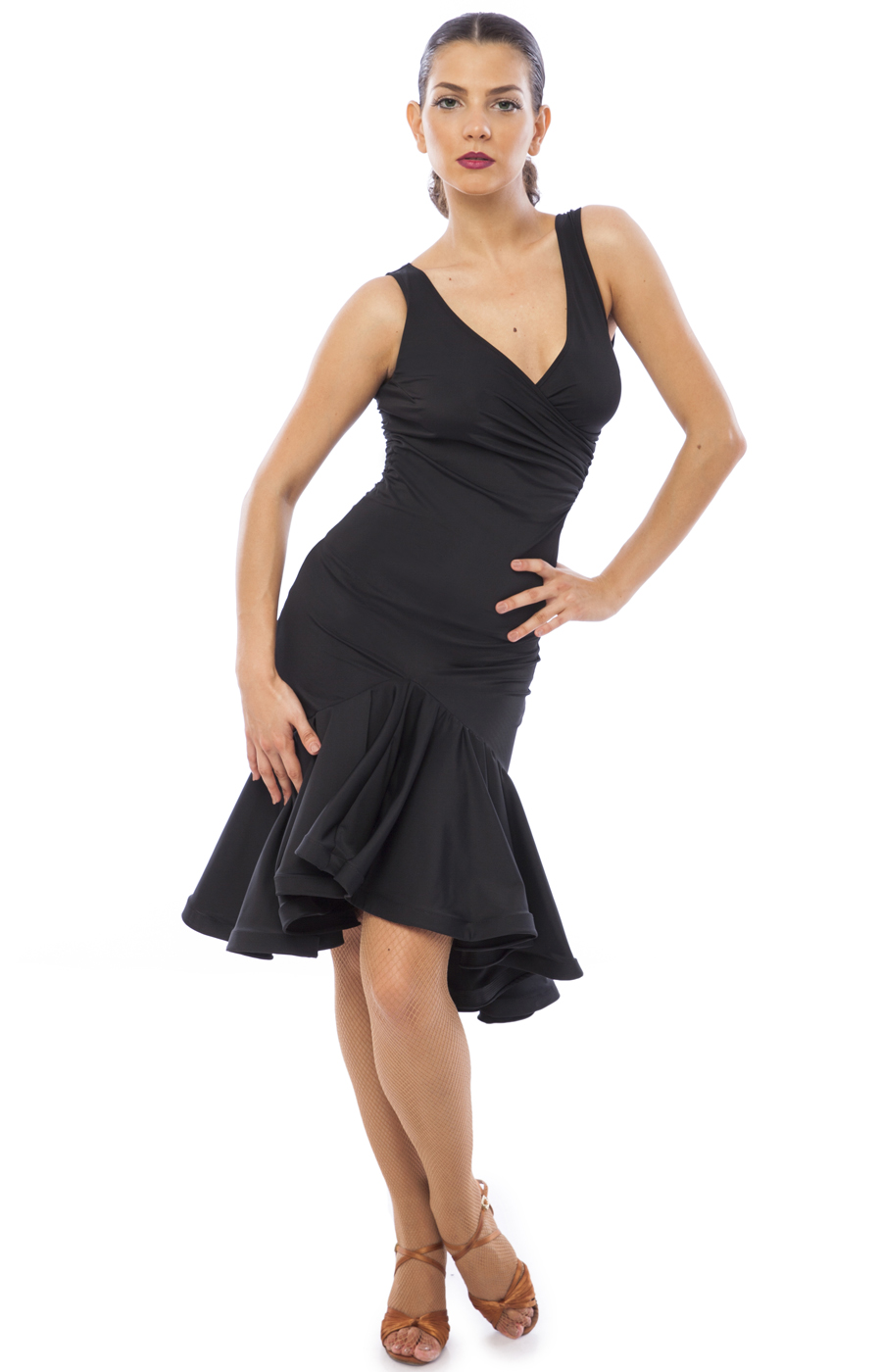 Women Black Latin Practice Dress Karina