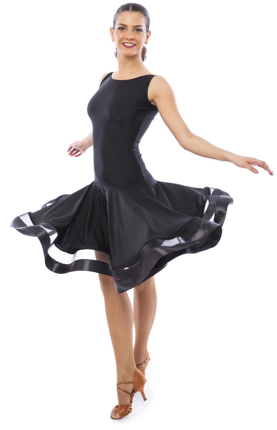 Women Black Latin Practice Dress