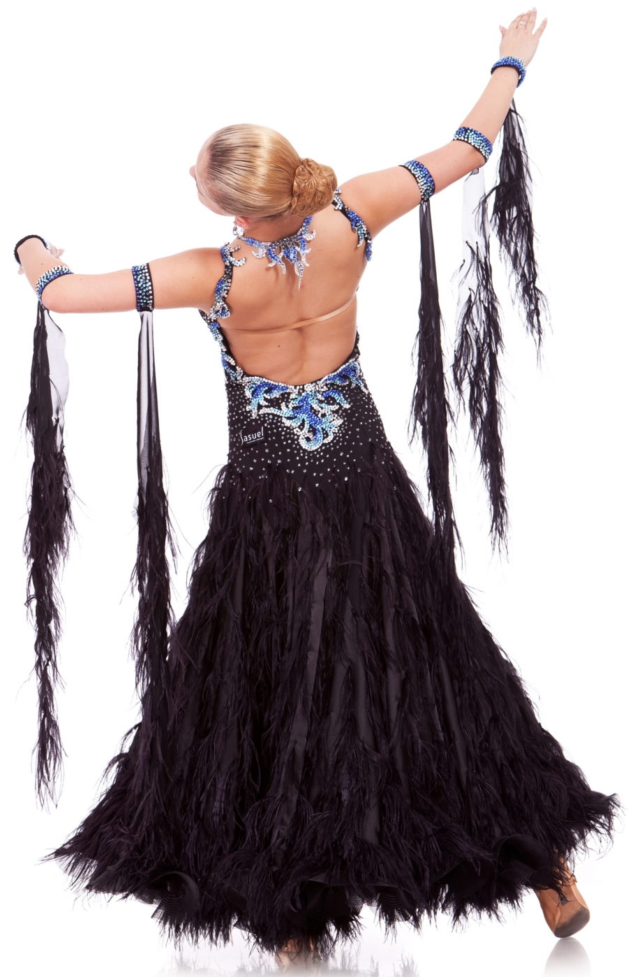 Women Ballroom Dress Black Swan