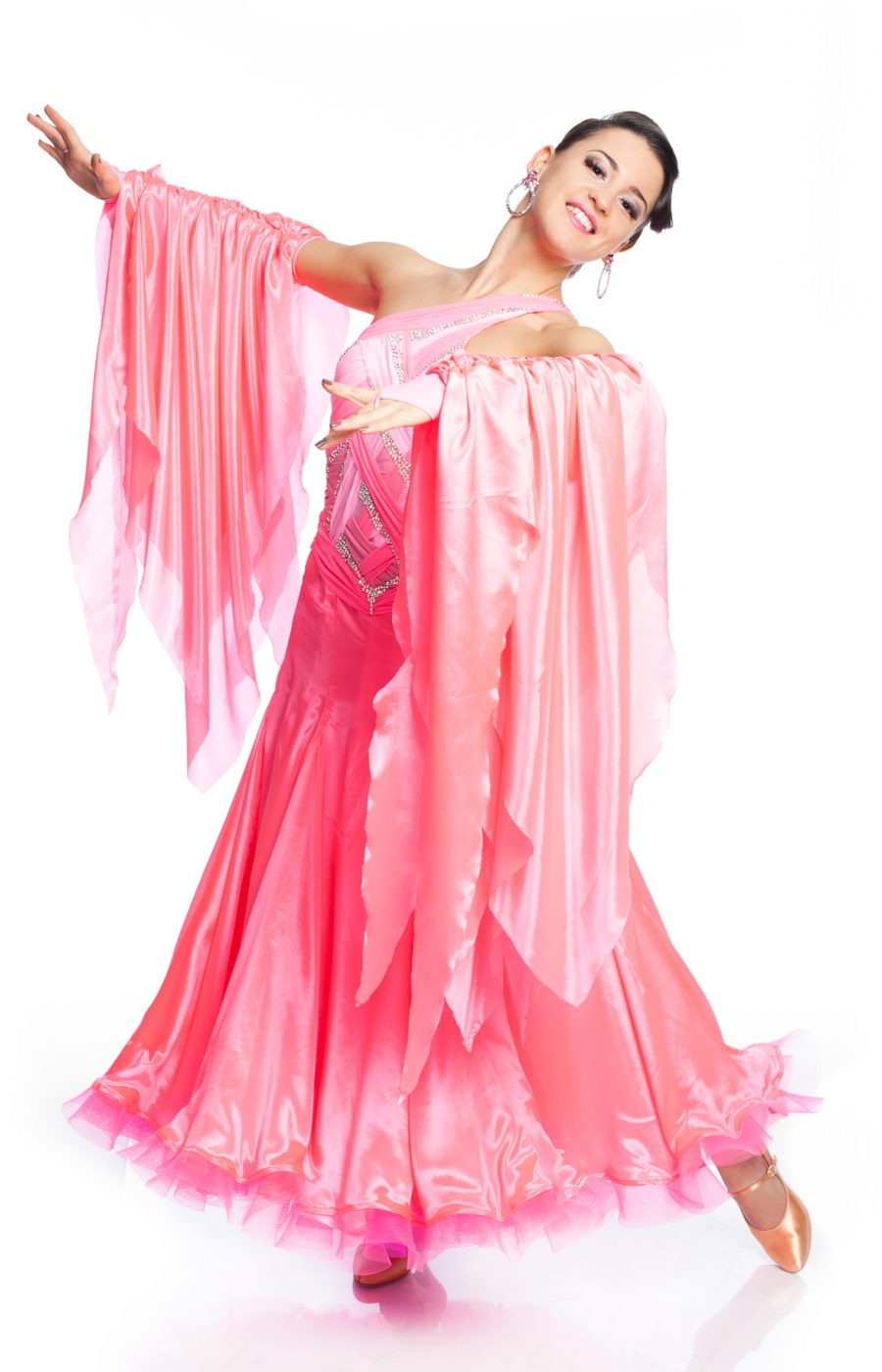 Women Ballroom Dress Giselle Pink