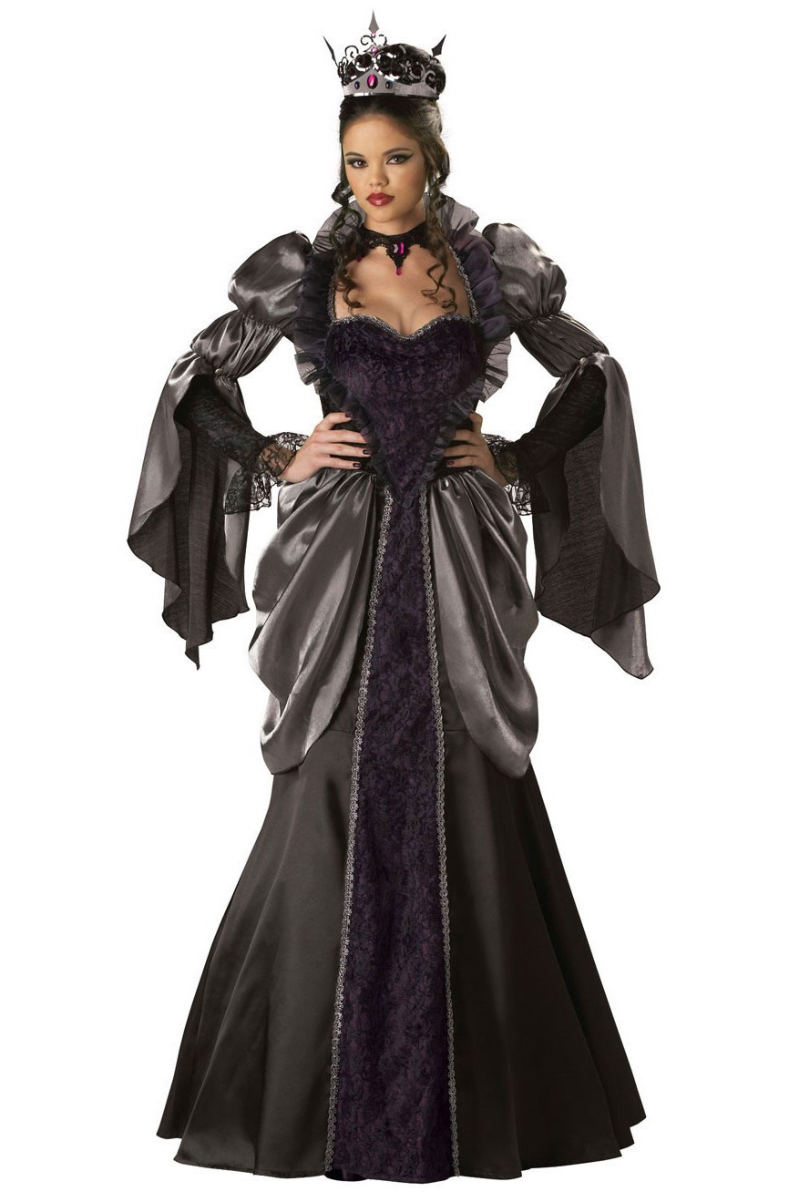 Kids Girl Black Queen Princess Costume