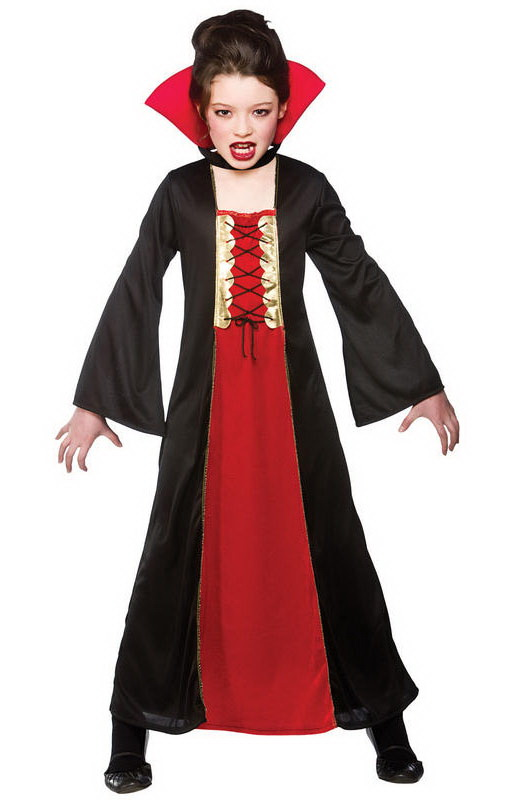 Kids Girl Vampire Costume