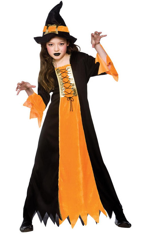 Kids Girl Witch Costume