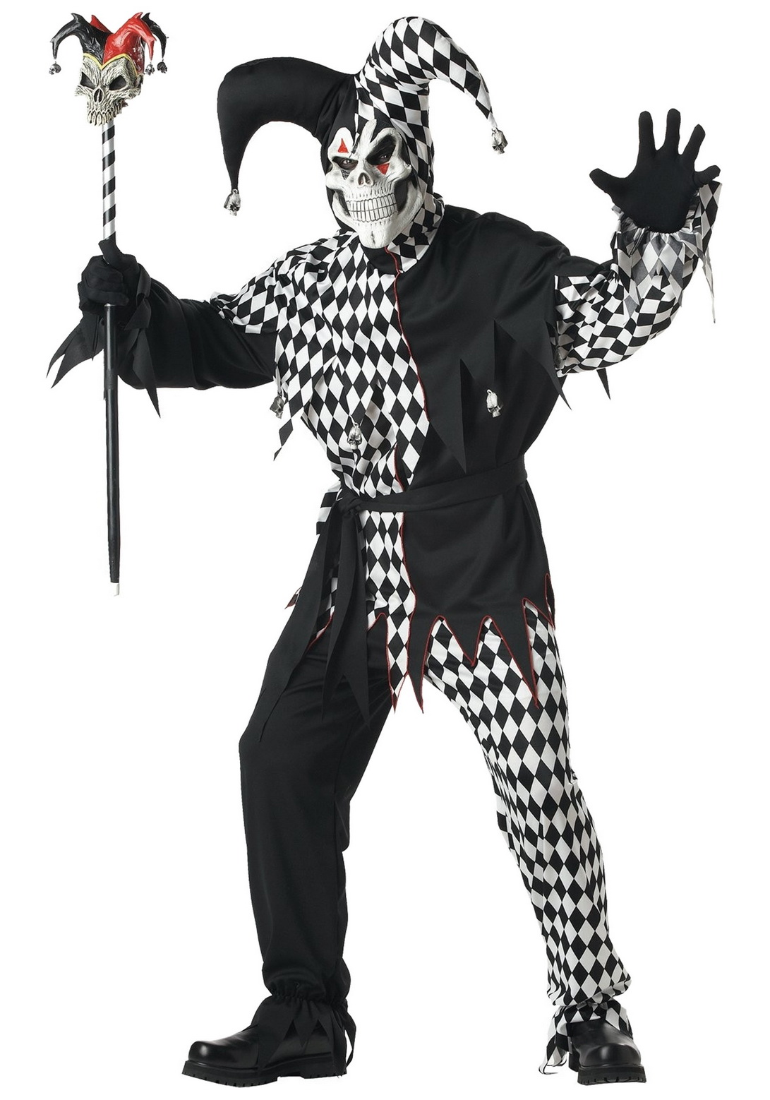 Adult Dark Jester Male Costume