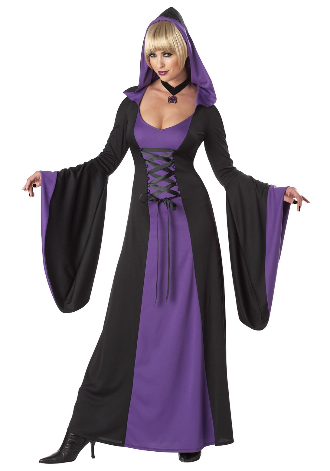 Adult Deluxe Purple Hooded Robe