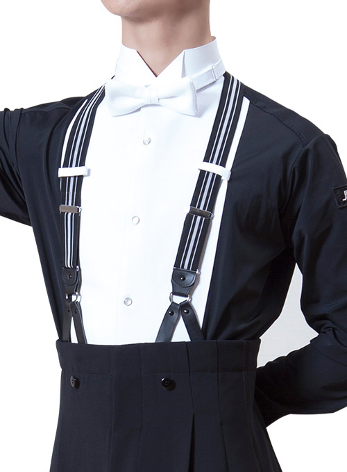 Men Ballroom Dancing trousers for Tailcoat with suspenders