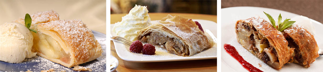 Austrian Apple Strudels Apfelstrudel