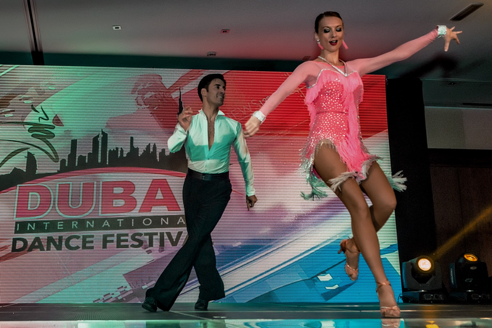 The adult team: Martina and Ruslan at Dubai International Dance Festival 2015