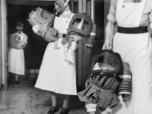 Gas Masks For Babies Tested At An English Hospital 1940 1